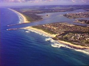 Photo of Ballina from the air
